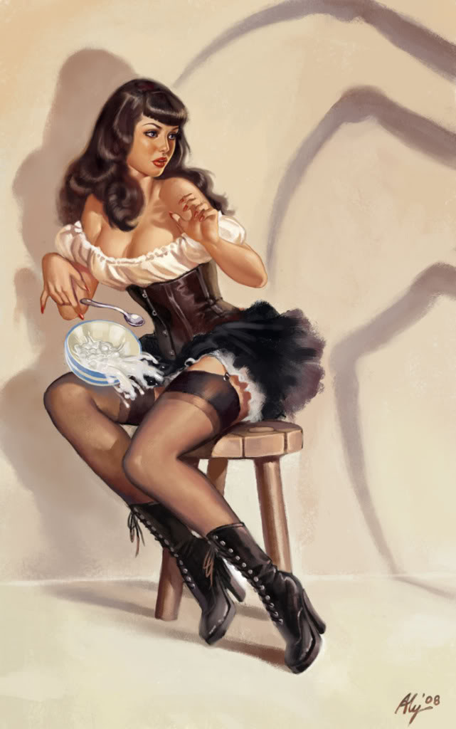 Pin Up Girls Drawings Step By Step Shelf Candy – Aly Fe...